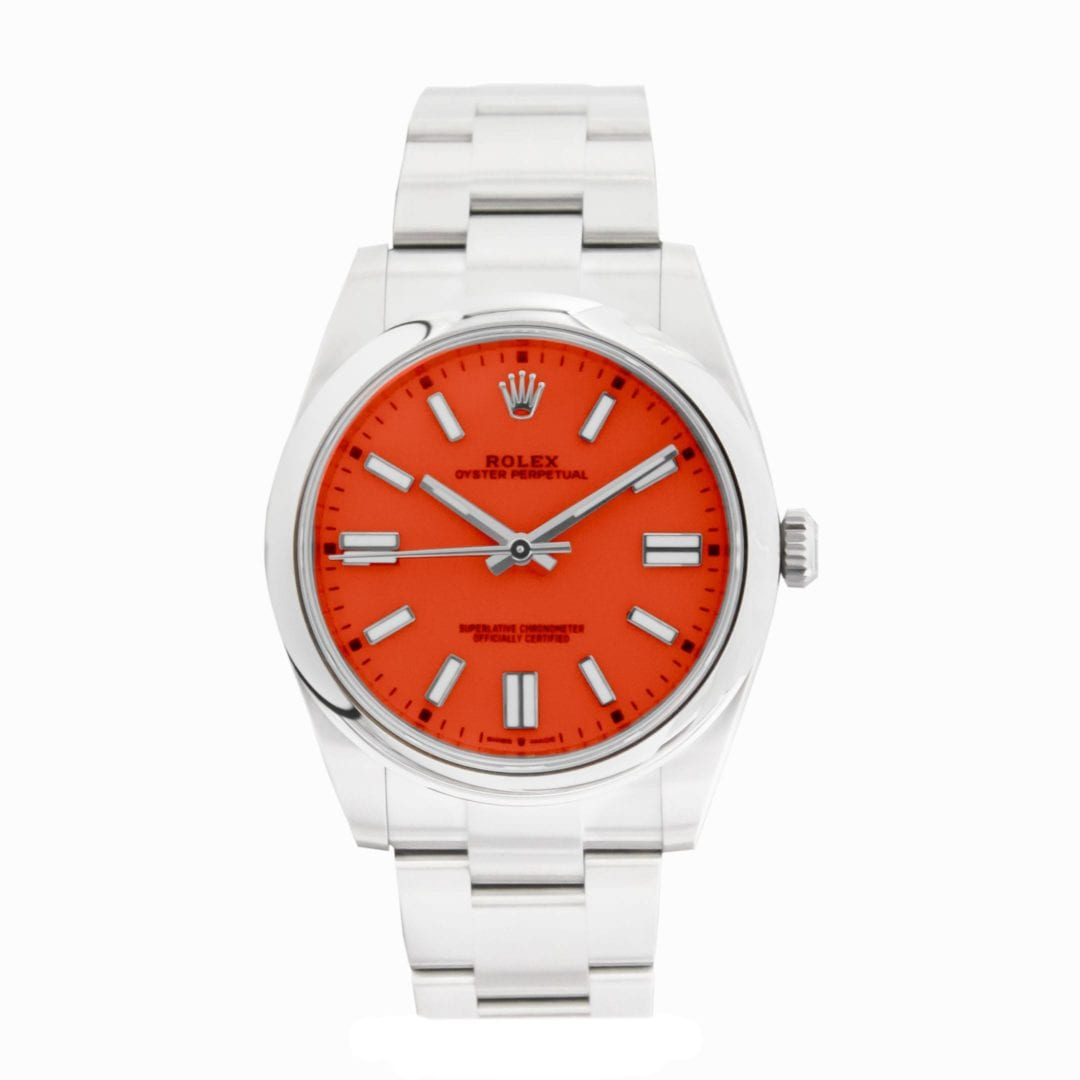 Rolex Oyster Perpetual Coral Red 124300